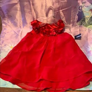 Red sleeveless holiday dress old navy 12-18 months